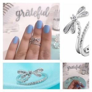 💙💎DRAGONFLY RING💎💙925 STERLING SILVER GORGEOUS